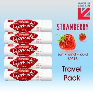 Strawberry Lip balm Travel Pack