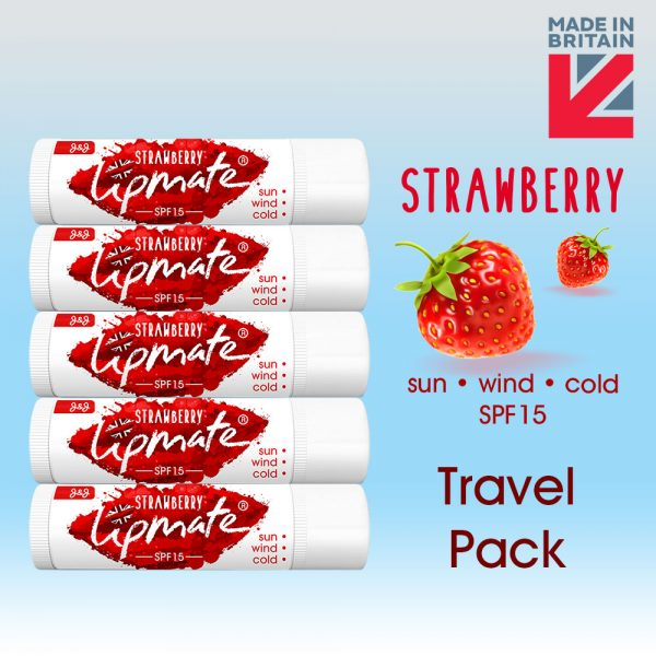 Strawberry Lip balm Travel Pack